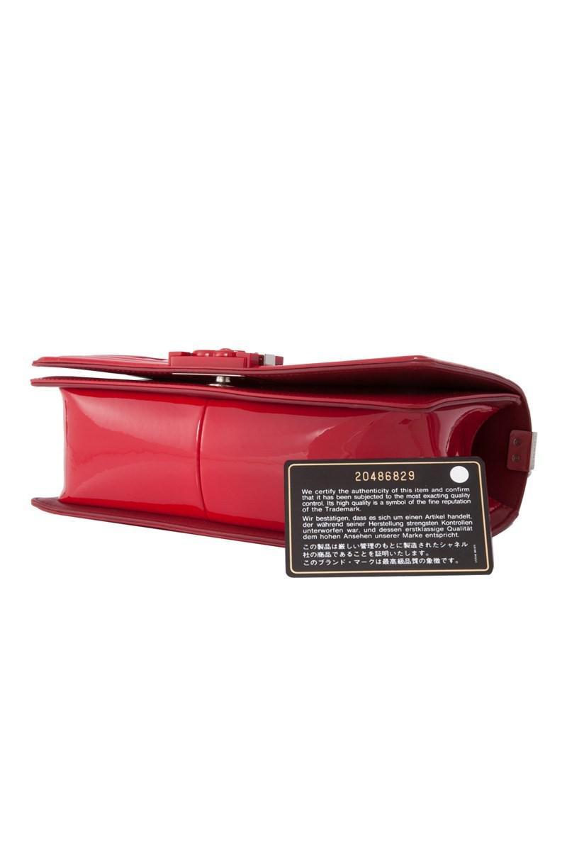 03ac6f1ba89a6e Lyst - Chanel Pre-owned Medium Boy Flap Bag in Red