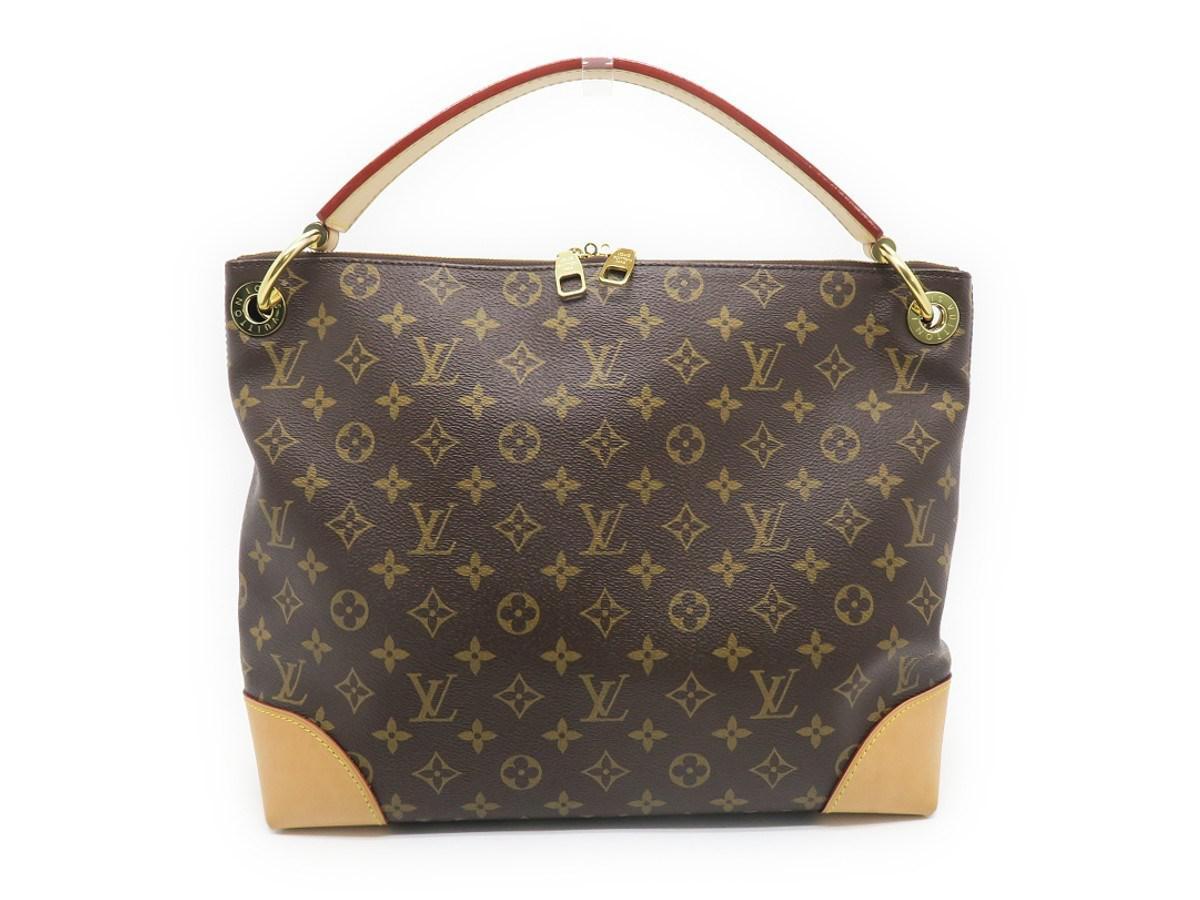 d3de2bbc0903 Lyst - Louis Vuitton Monogram Berri Pm Shoulder Bag Brown M41623 ...
