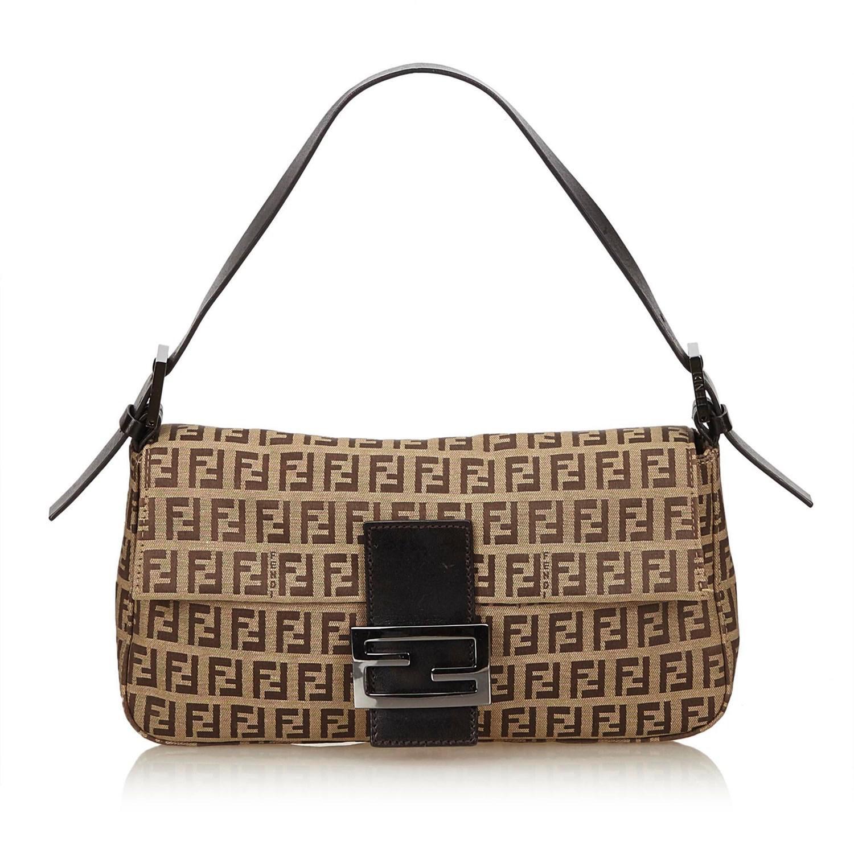 bb176caebe3f Lyst - Fendi Zucchino Jacquard Handbag in Natural