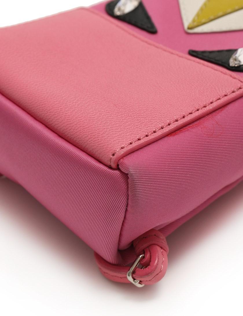 dafabcae0567 Lyst - Fendi Bag Bugs Bag A Bug s Charm Keychain Leather Fur Pink in ...