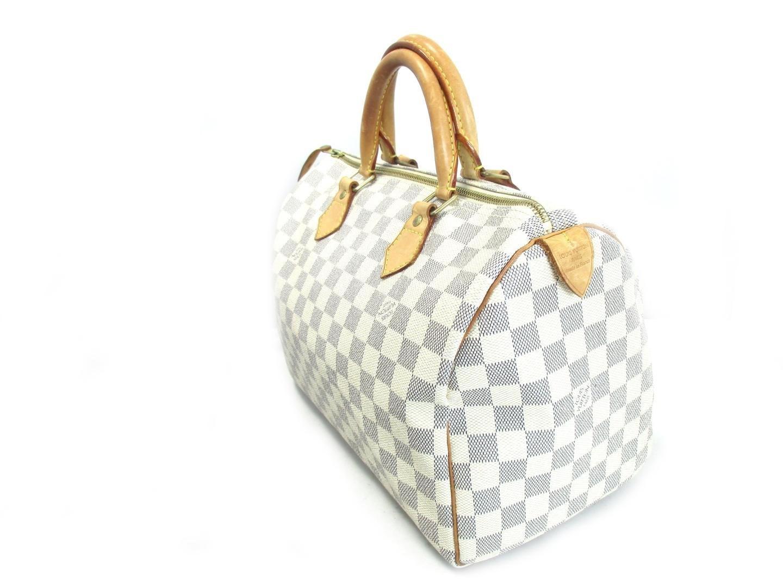 d1c8f885de63 Lyst - Louis Vuitton Speedy 30 Hand Boston Bag Damier Azur N41533 in ...
