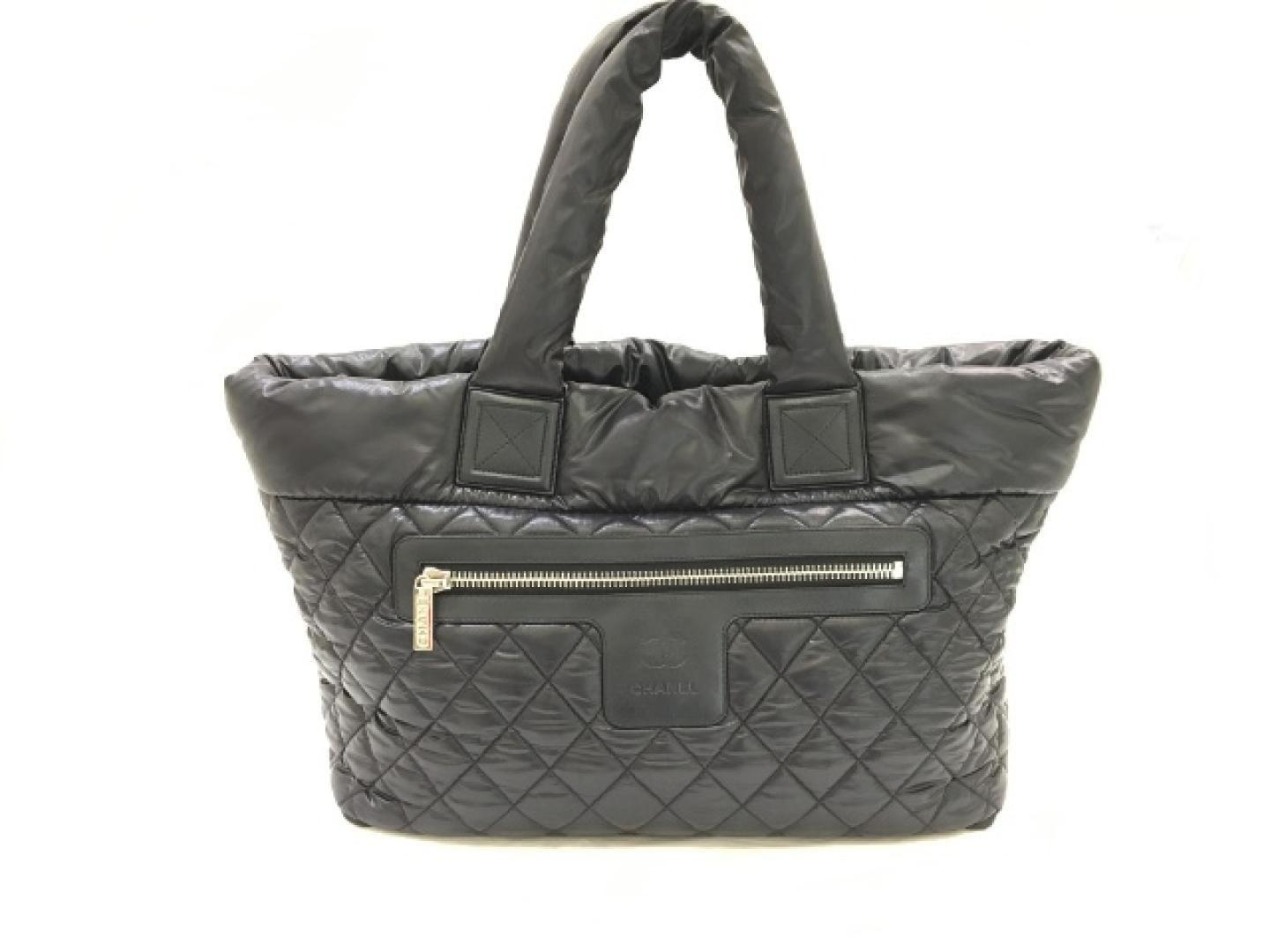 c928b6ecefaa Chanel Coco Cocoon Tote Bag Quilted Nylon Black in Black - Lyst