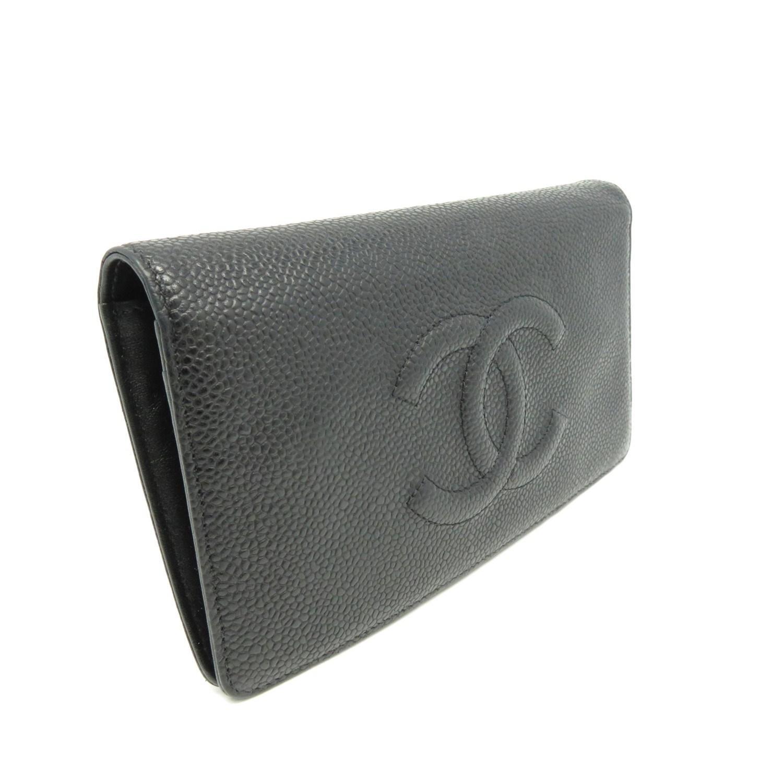 ee1be8c99879 Chanel - Cc Fold Wallet Purse Caviar Leather Black 2779 - Lyst. View  fullscreen