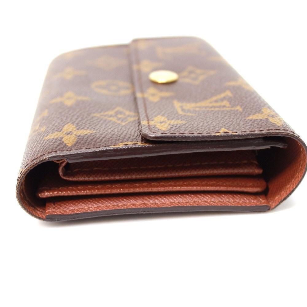 huge discount 413cf 4bea9 Louis Vuitton Monogram Portefeuille Alexandra Tri-fold Wallet Brown  Monogramcanvas M60047