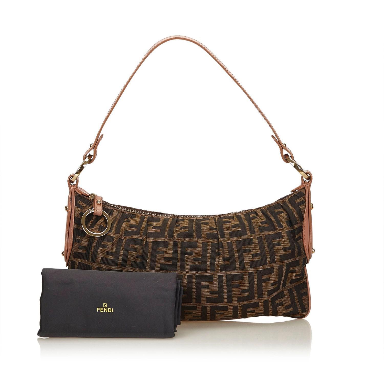 Lyst - Fendi Zucca Jacquard Shoulder Bag in Brown 64ac7b5071152