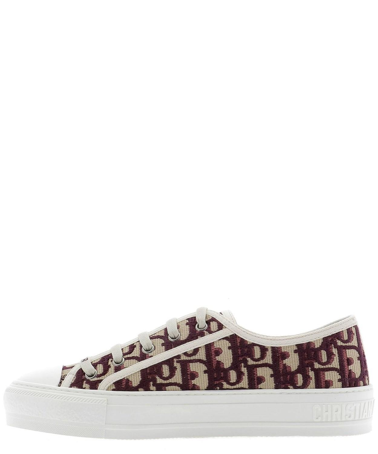 22326f55 Dior Red Women's Kck211obe16v Burgundy Polyester Sneakers
