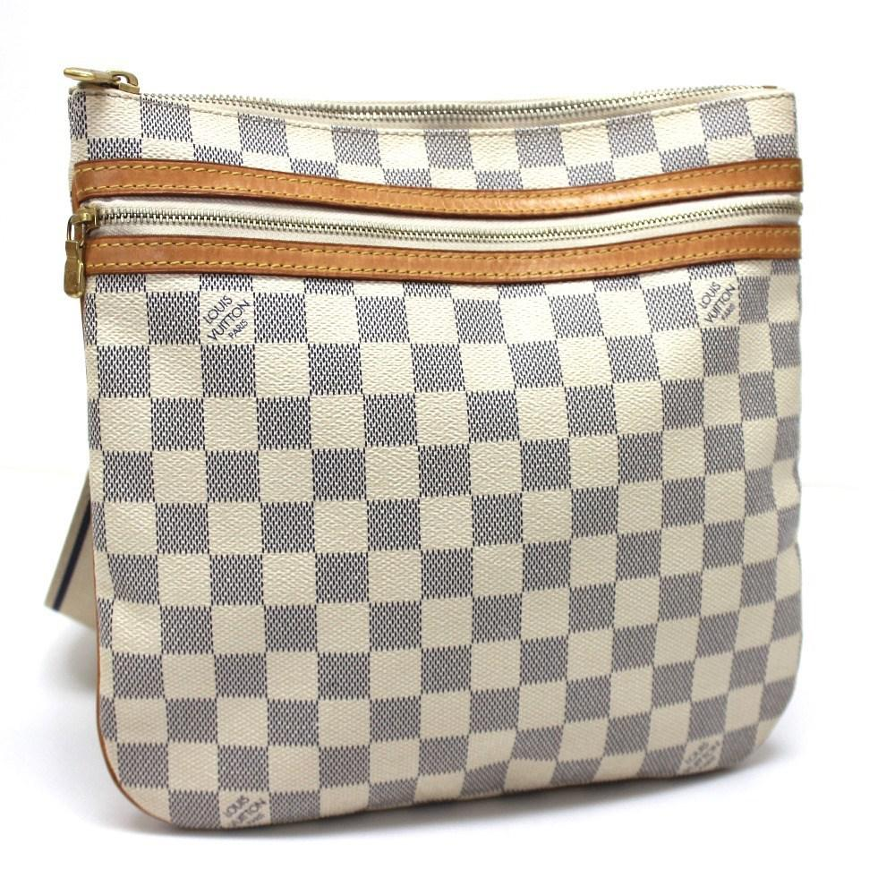 df75dcad1c Lyst - Louis Vuitton Damier Azur Pochette Bosphore Crossbody Men s ...