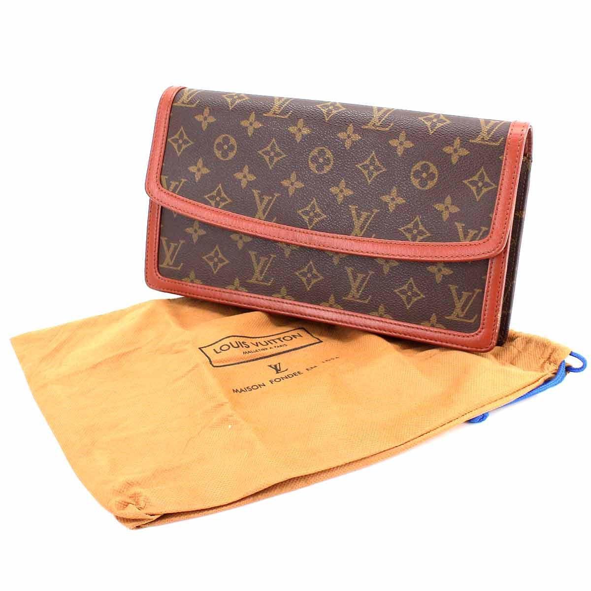 e663519fd975 Lyst - Louis Vuitton Monogram Pochette Dame Clutch Bag M51810 Purse ...