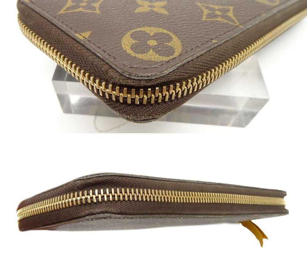 huge discount 93132 4b820 Louis Vuitton Brown Monogram Clemence Zip Around Wallet M60744 Mimosa  /041355