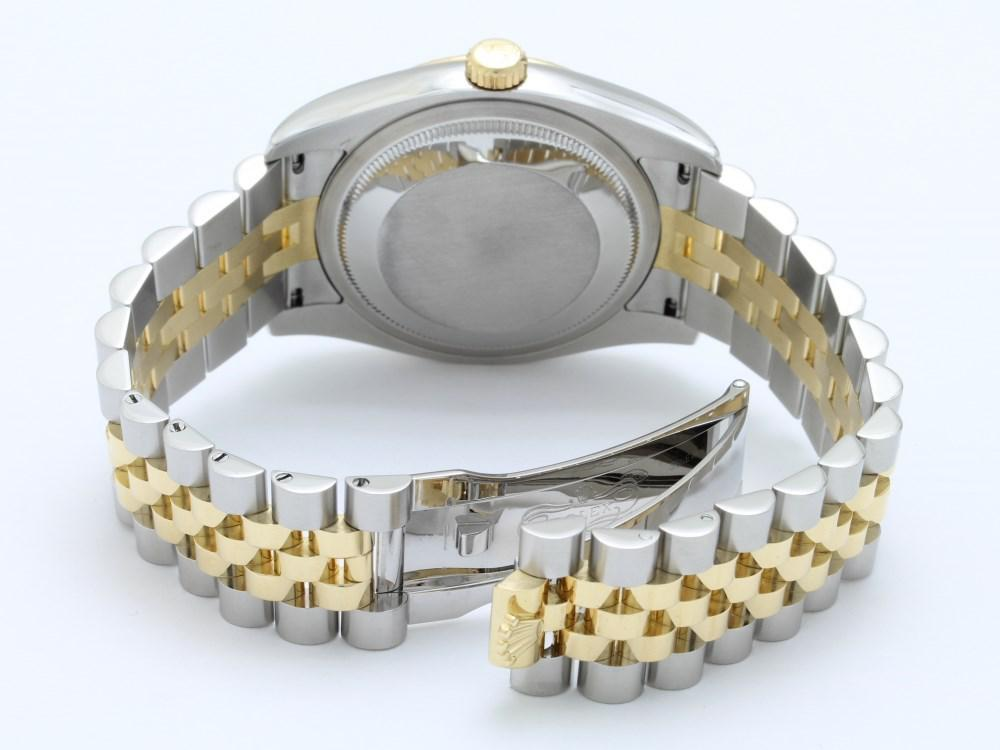 detailed look 8c345 69ba5 Metallic Datejust 116233g D Number Blue Computer Roulette Men's Watch