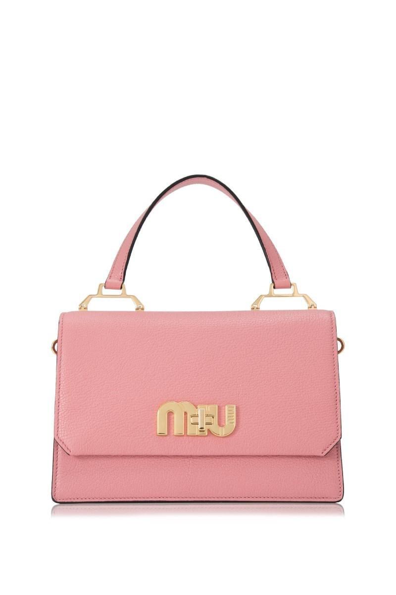 Lyst - Miu Miu Madras Logo Crossbody Bag in Pink - Save 10% 5cf55826704af