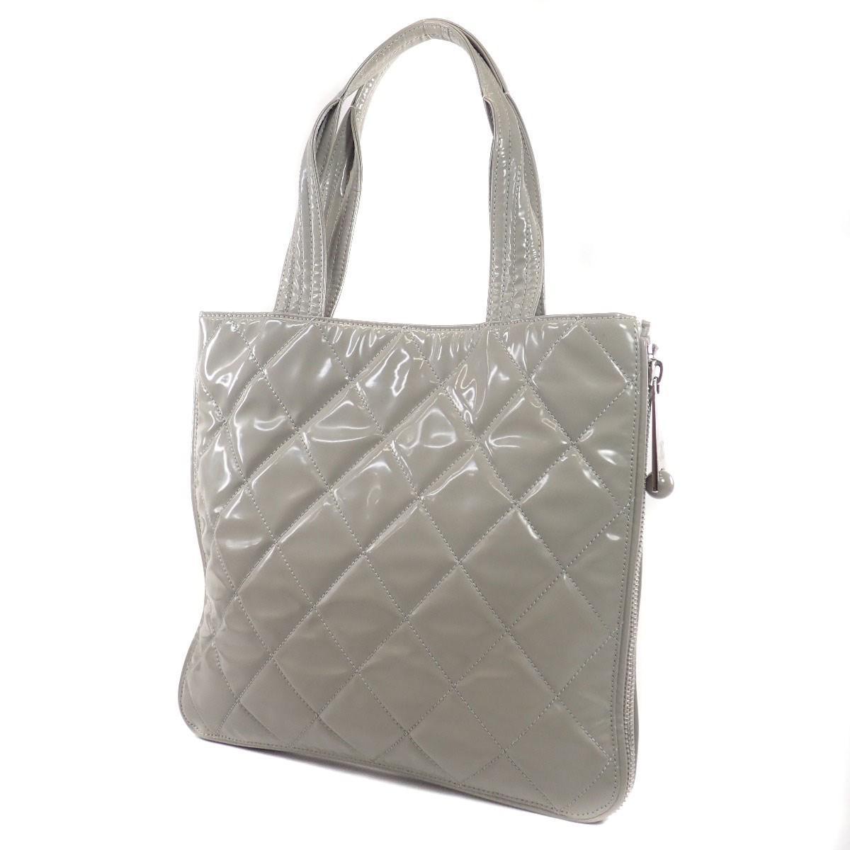 288938b38b2 Lyst - Chanel Plastics Tote Bag Coco Mark in Gray