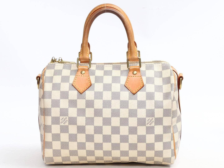 0ee31e3c4e42 Lyst - Louis Vuitton Speedy Bandouliere 25 Handbag N41374 Damier ...