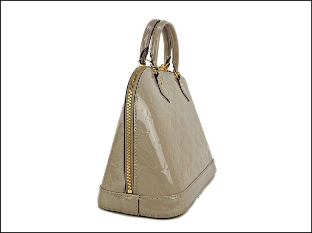 fee20bc828f Louis Vuitton Natural Hand Bag Alma Pm Monogram Vernis Dune M90170