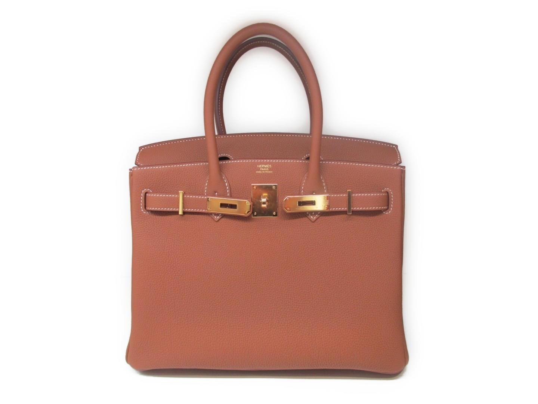 6a6527aee3 Lyst - Hermès Birkin 30 Handbag Totebag Togo Leather Gold Brown Ghw ...