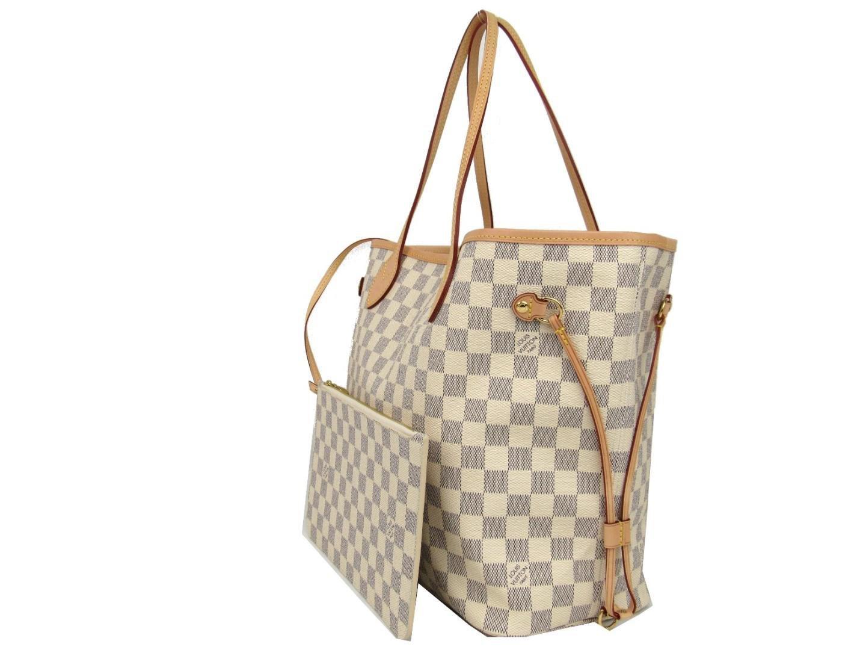 120f5c5df126f best Louis Vuitton Damier Azur Canvas Neverfull Mm N41361 image ...