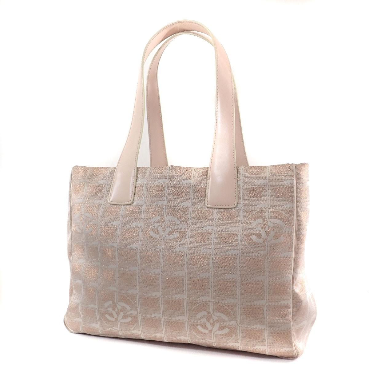 0172fa5ec27b Lyst - Chanel Nylon Jacquard Tote Bag New Travel Line in Natural