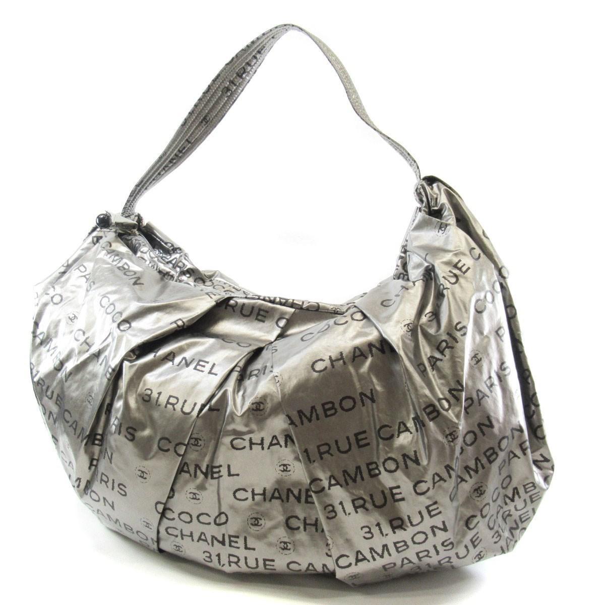 5b4721575851 Lyst - Chanel Nylon Shoulder Bag Unlimited in Metallic