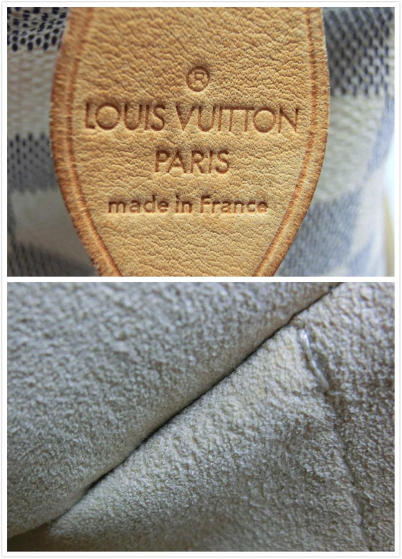ee36cc3580b1 Lyst - Louis Vuitton Authentic Damier Azur Canvas N51184 Saleya Gm ...