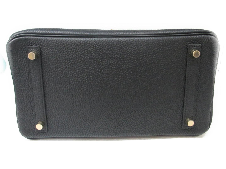 Birkin 30 Handbag Togo Leather Black Ghw