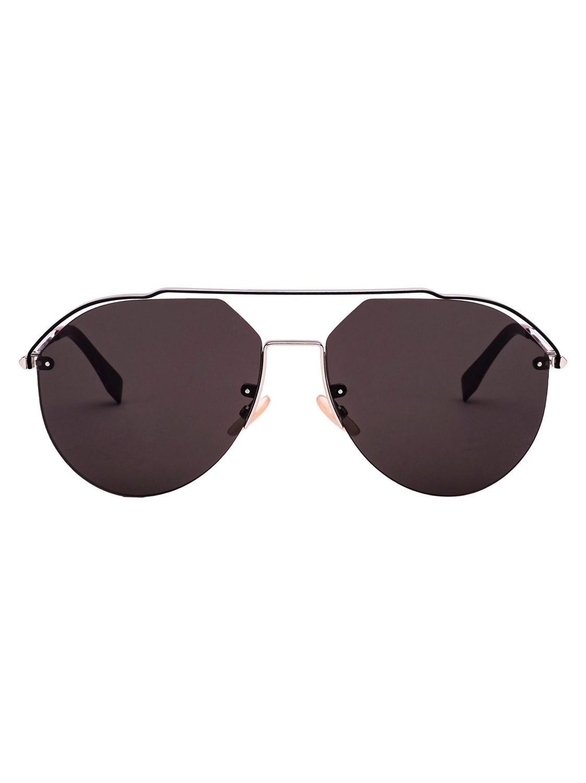 436864c19e2 Lyst - Fendi Men s Ffm0031s010ir Silver Metal Sunglasses in Metallic ...