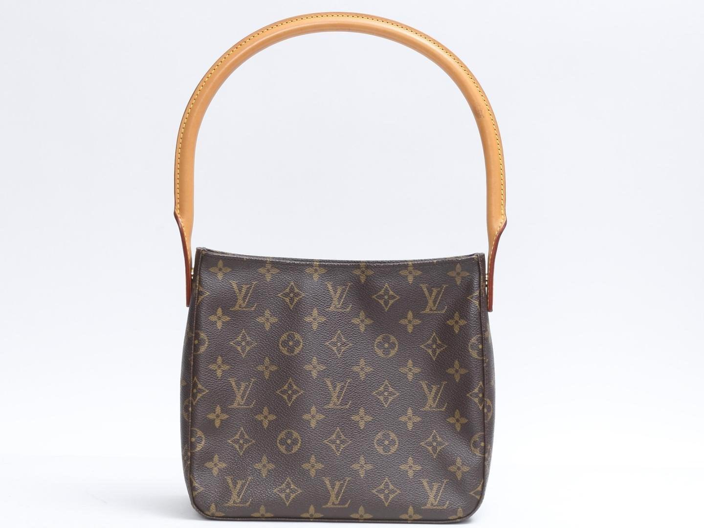 b8e0f926be13 Louis Vuitton. Women s Brown Auth Used Looping Shoulder Hand Bag M51145 Monogram  Canvas