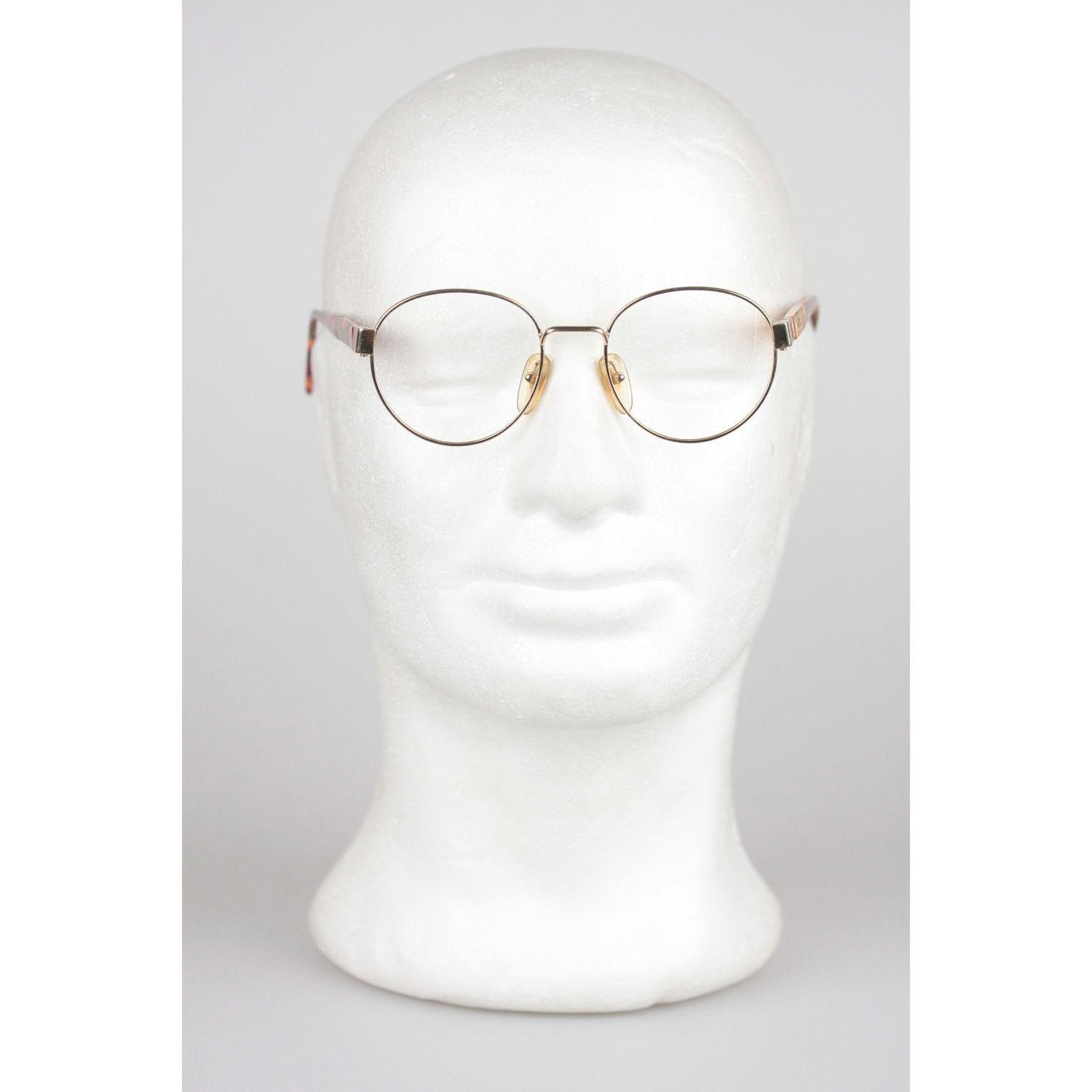 f967d31cfe Moschino By Persol Vintage Gold Metal Round Frame Eyeglasses M09 50 ...