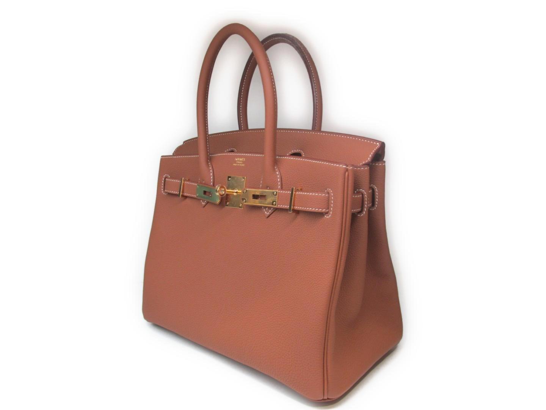 043cd0d73a4d8 Lyst - Hermès Birkin 30 Handbag Totebag Togo Leather Gold Brown Ghw ...