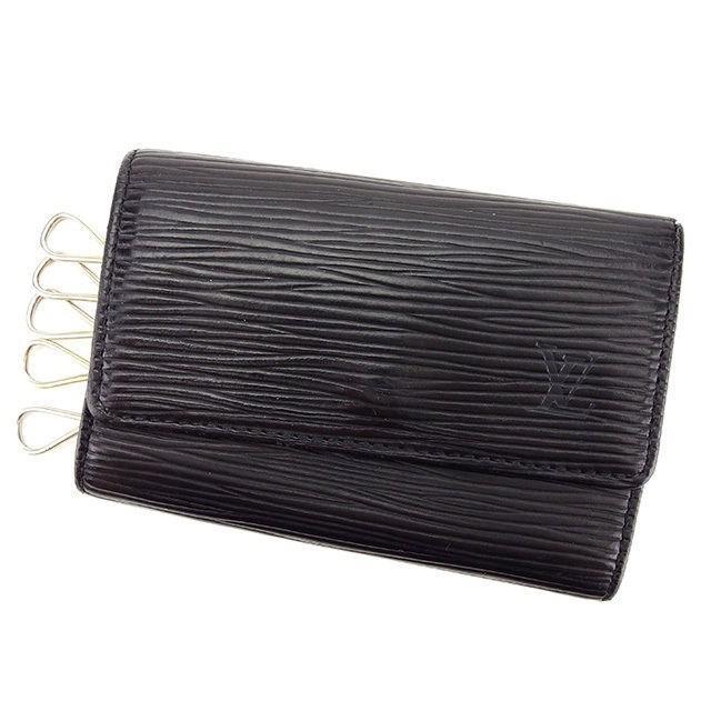dc1dfef6ae41 Lyst - Louis Vuitton Key Holder Epi Womens Mens Used T2467 in Black