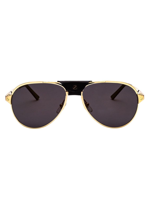 9fae811edf Lyst - Cartier Men s Ct0034sc013 Gold Metal Sunglasses in Metallic ...