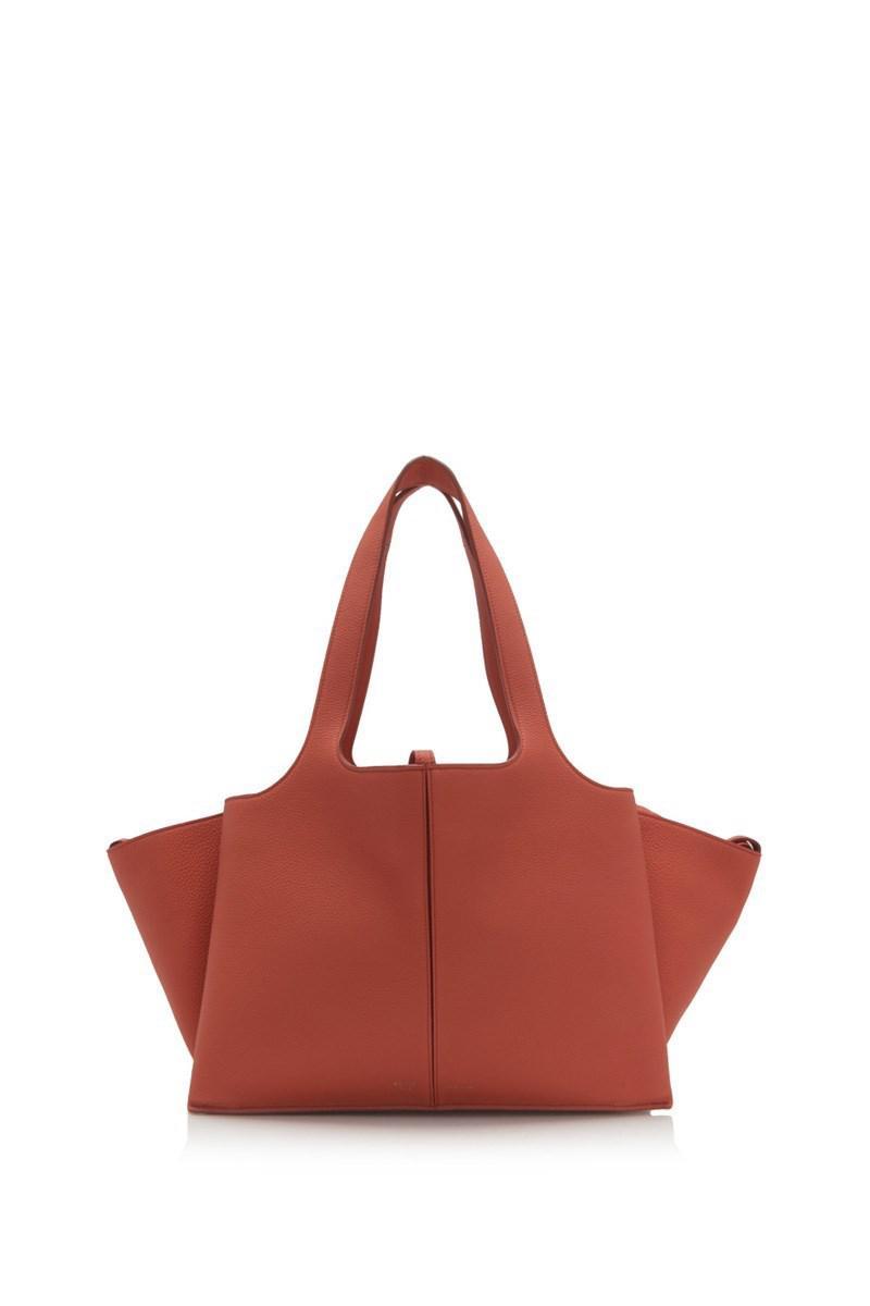 da51adc9cb Lyst - Céline Céline Small Tri-fold Bag in Orange