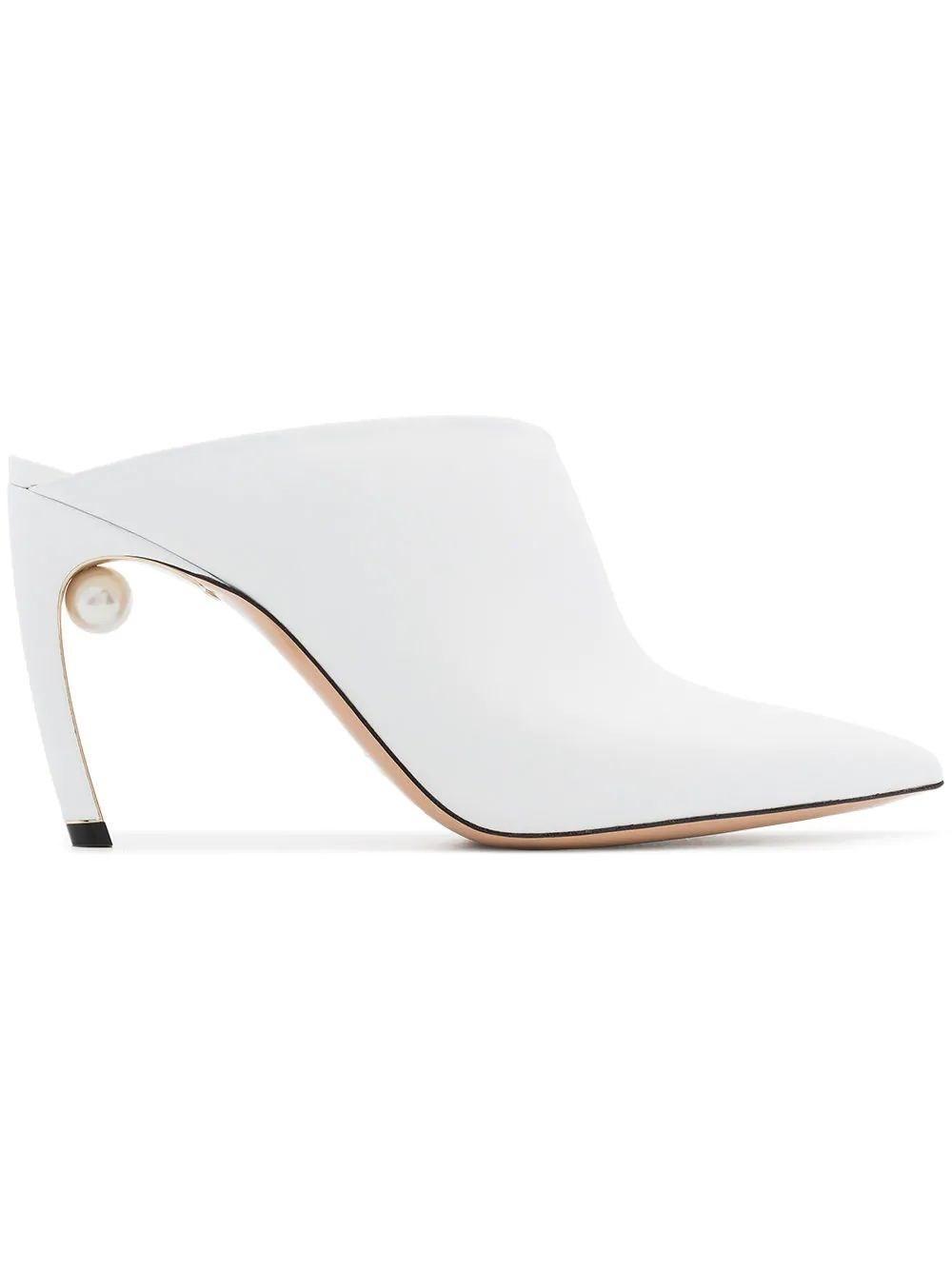 a8a9fc185a0 Lyst - Nicholas Kirkwood Women s 909a51vls4w01 White Leather Heels ...
