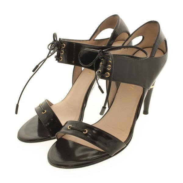 under 70 dollars Escada Leather Cage Sandals best online gqcN4
