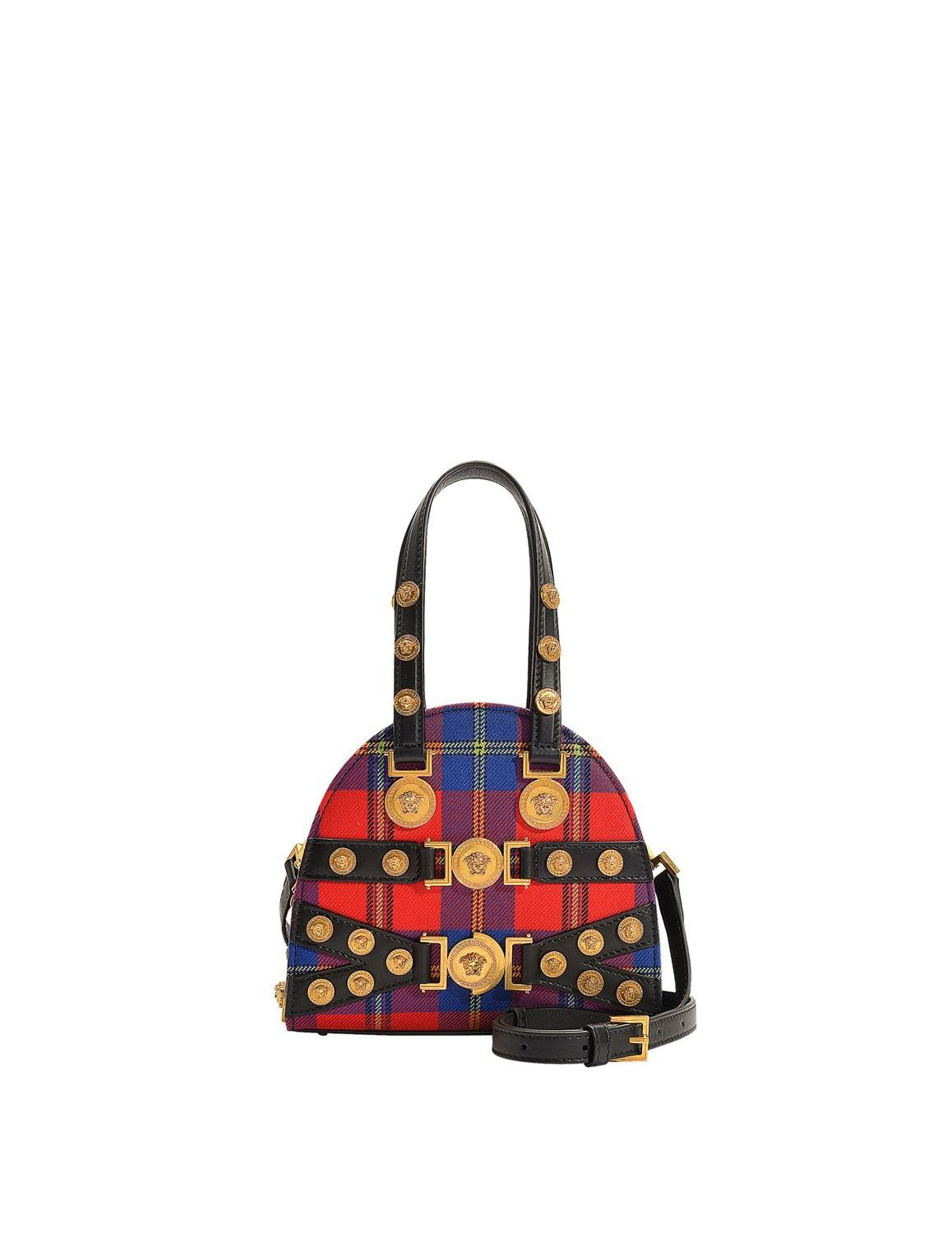 Lyst - Versace Tribute Small Hand Carry Bag In Multicolor Wool in Red 9e76c90e7a
