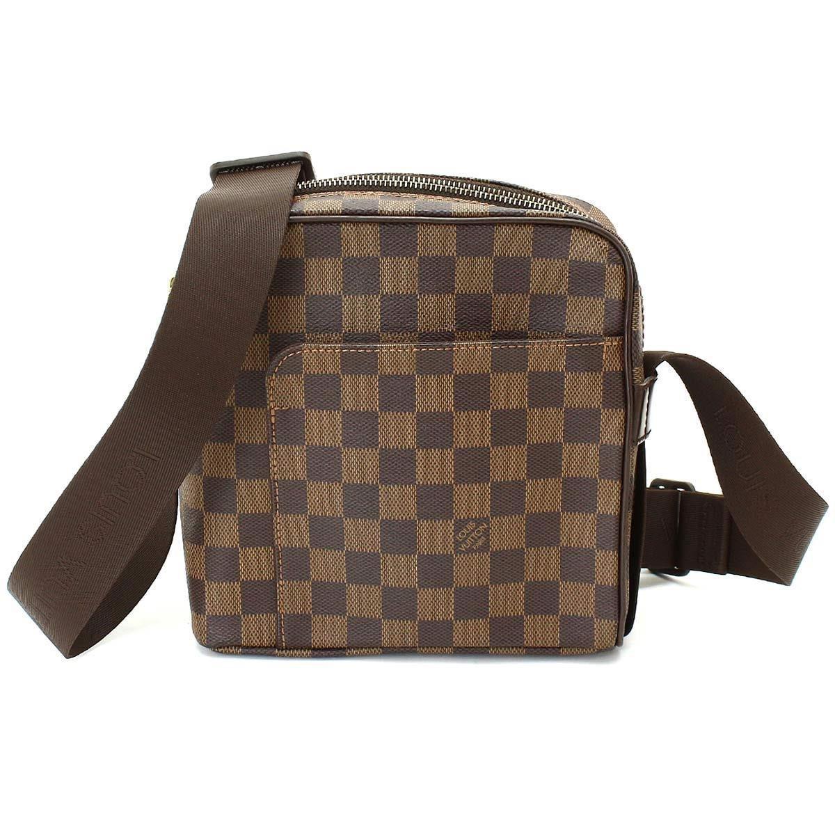 da1ce4e66095 Lyst - Louis Vuitton Damier Olav Pm Shoulder Bag Ebene N41442 Purse ...