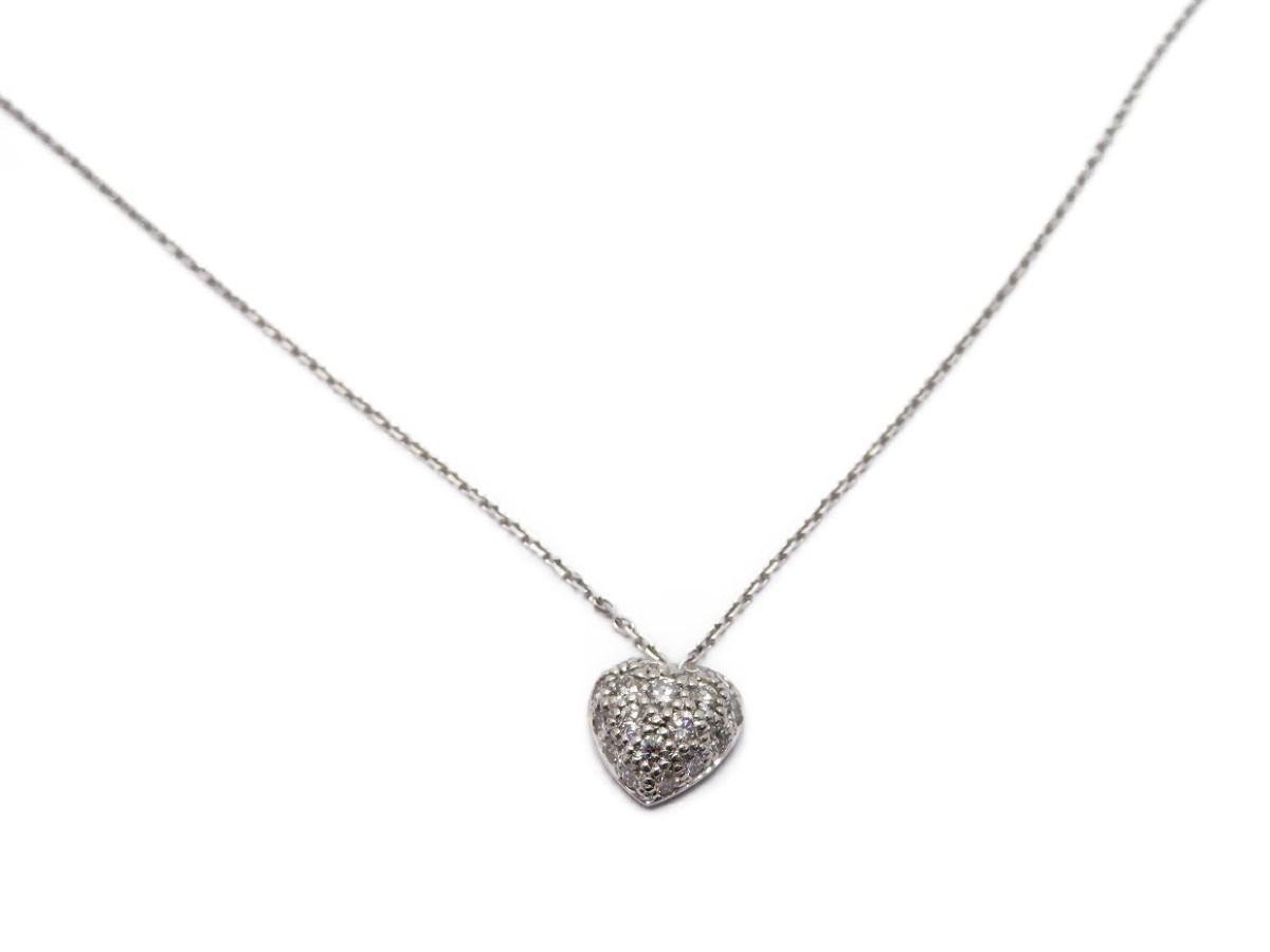 942f45218f7 Cartier Diamonds Heart Shape Necklace 18k White Gold 8182 in ...