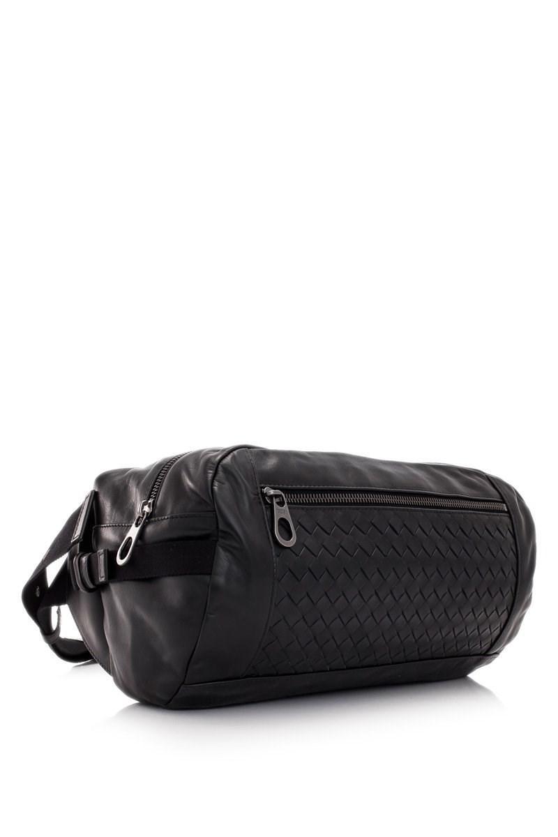 5779b361d487 Lyst - Bottega Veneta Belt Bag in Black