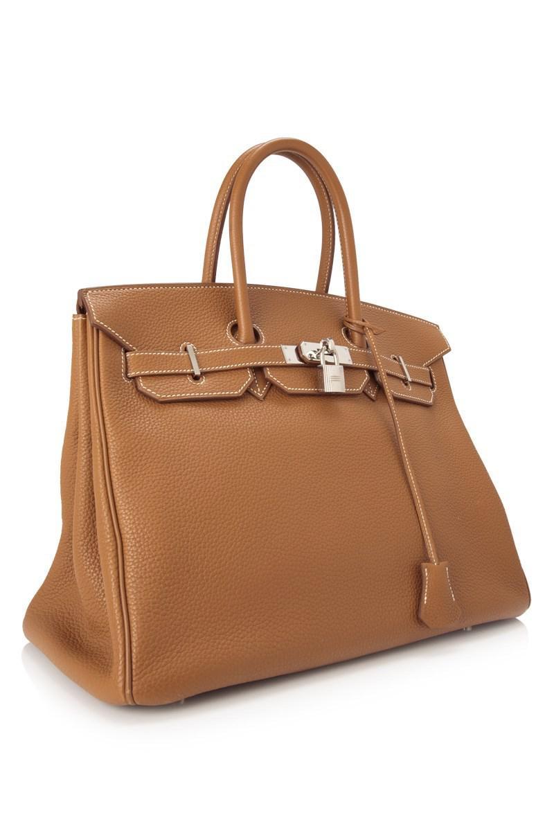 510b71d8ae Lyst - Hermès Pre-owned Hermès Gold Togo Birkin 35 in Brown
