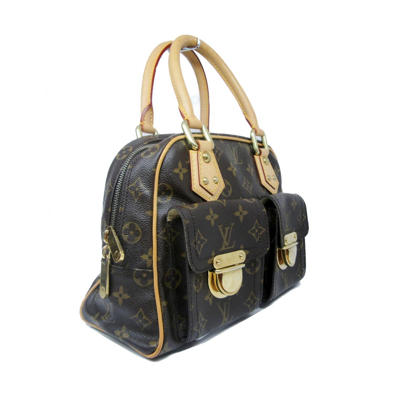 2c03d7400d28 Lyst - Louis Vuitton Auth Monogram Manhattan Pm Satchel Handbag ...