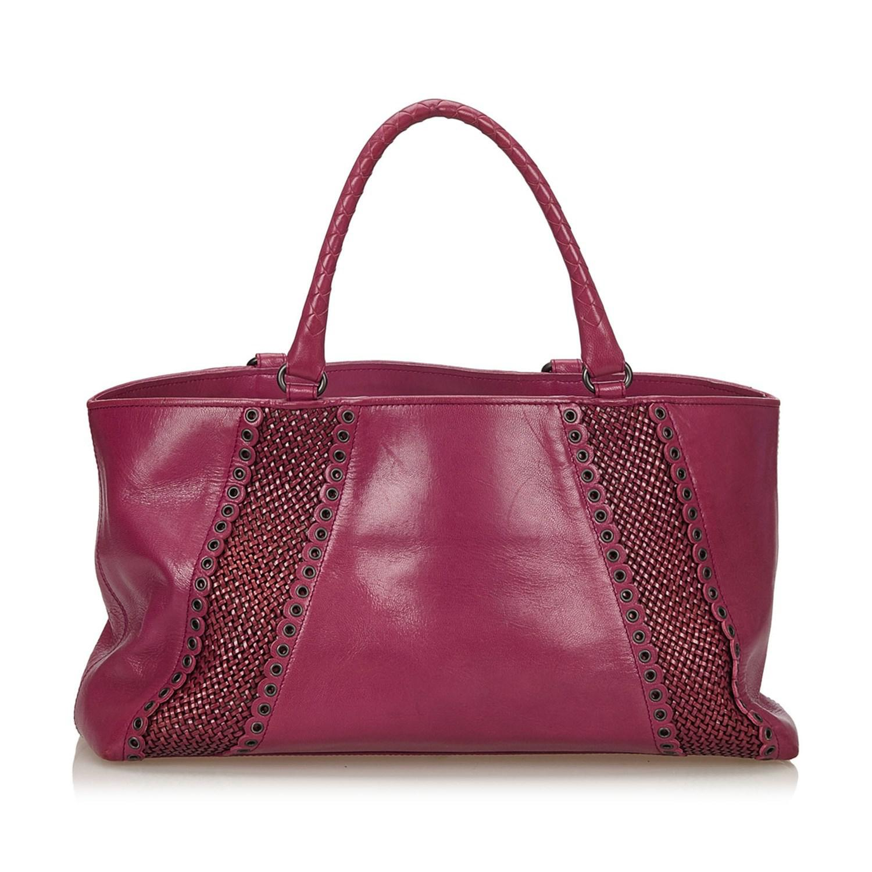 bff6088638 Lyst - Bottega Veneta Rugiada Leather Tote Bag in Pink