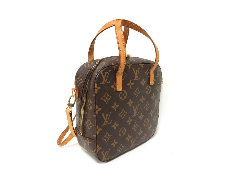 7b6e12e45d4a Lyst - Louis Vuitton Monogram Canvas Spontini Hand Bag 2way Shoulder ...