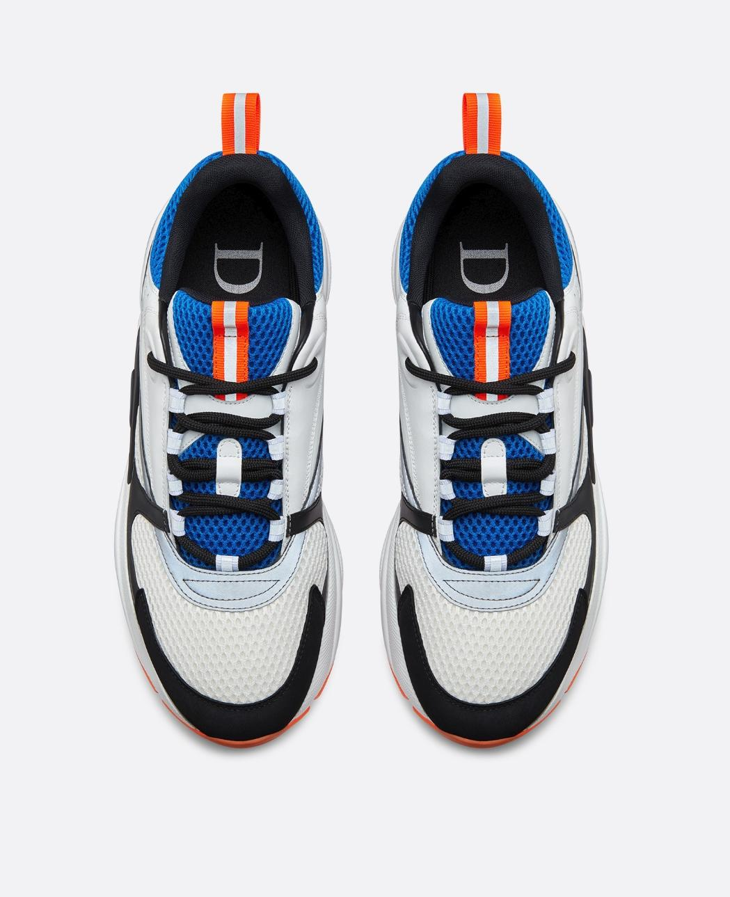"""Dior Leather """"b22"""" Sneaker In Blue Technical Knit And"""