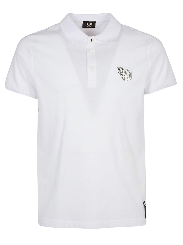 c6bc56fa5 Lyst - Fendi Polo in White for Men