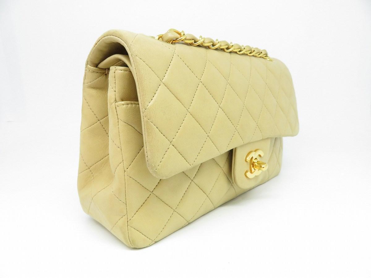 47814874a426fe Lyst - Chanel Lambskin Classic Double Flap Chain Shoulder Bag ...