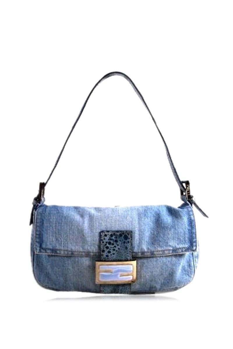8e52a93900da Lyst - Fendi Baguette Jeans in Blue