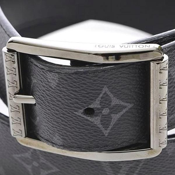 1c9ded087b821 Lyst - Louis Vuitton Monogram Eclipse Saint-cul Riverso Belt 90 36 ...