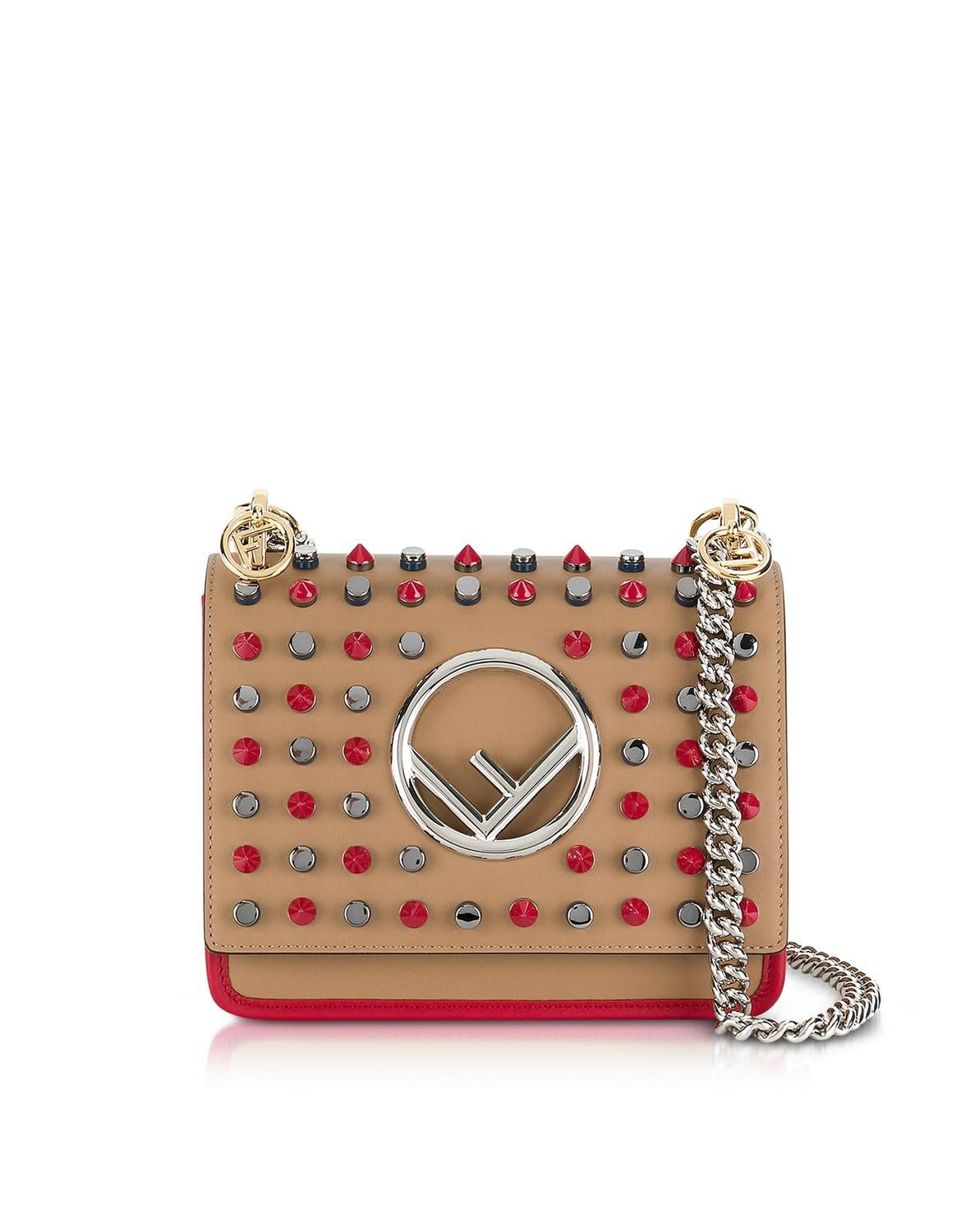 2371d952b8cb ... usa fendi. womens yellow kan i f small sand and red leather crossbody  bag 2e980 50a24 ...