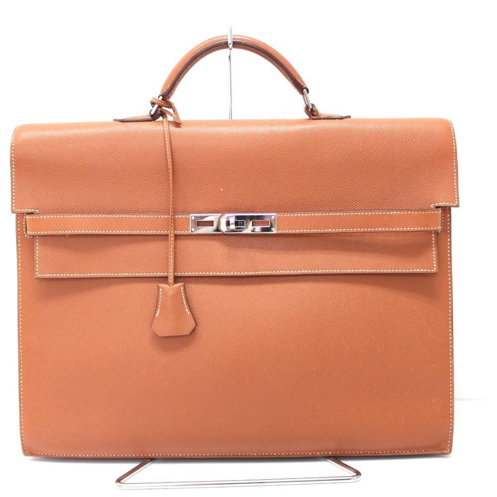 b7a40c1ff6c8 Lyst - Hermès Kelly Depeche 38 Briefcase Gold silverhardware Epsom ...
