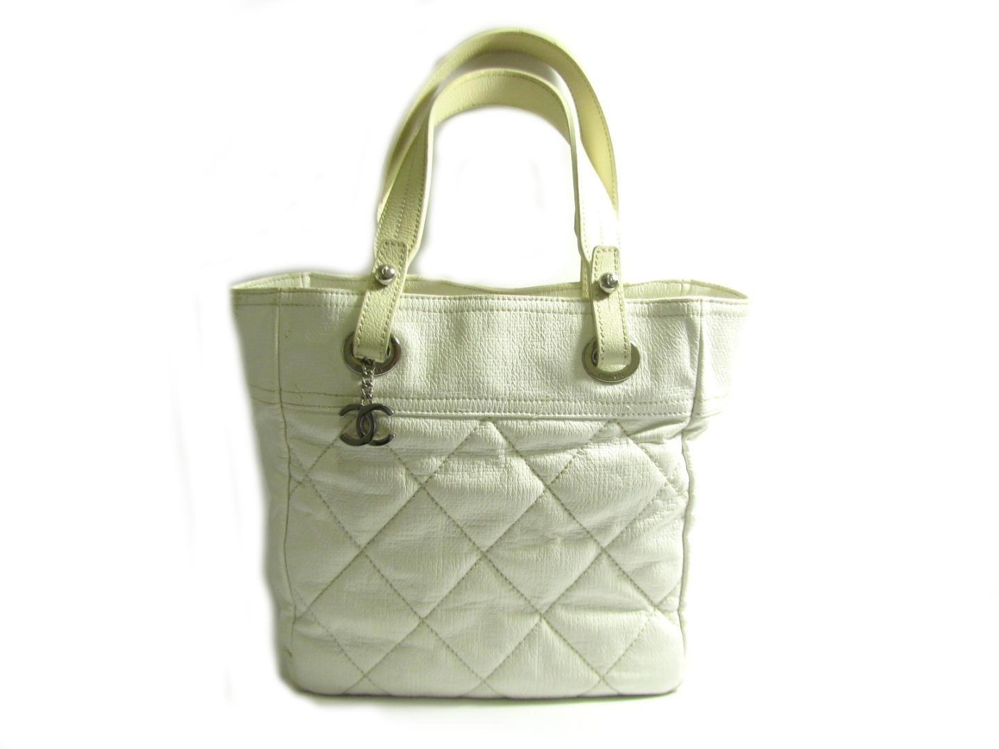 5027bd0df387c Lyst - Chanel Authentic Paris Biarritz Tote Pm Tote Bag Quilted ...