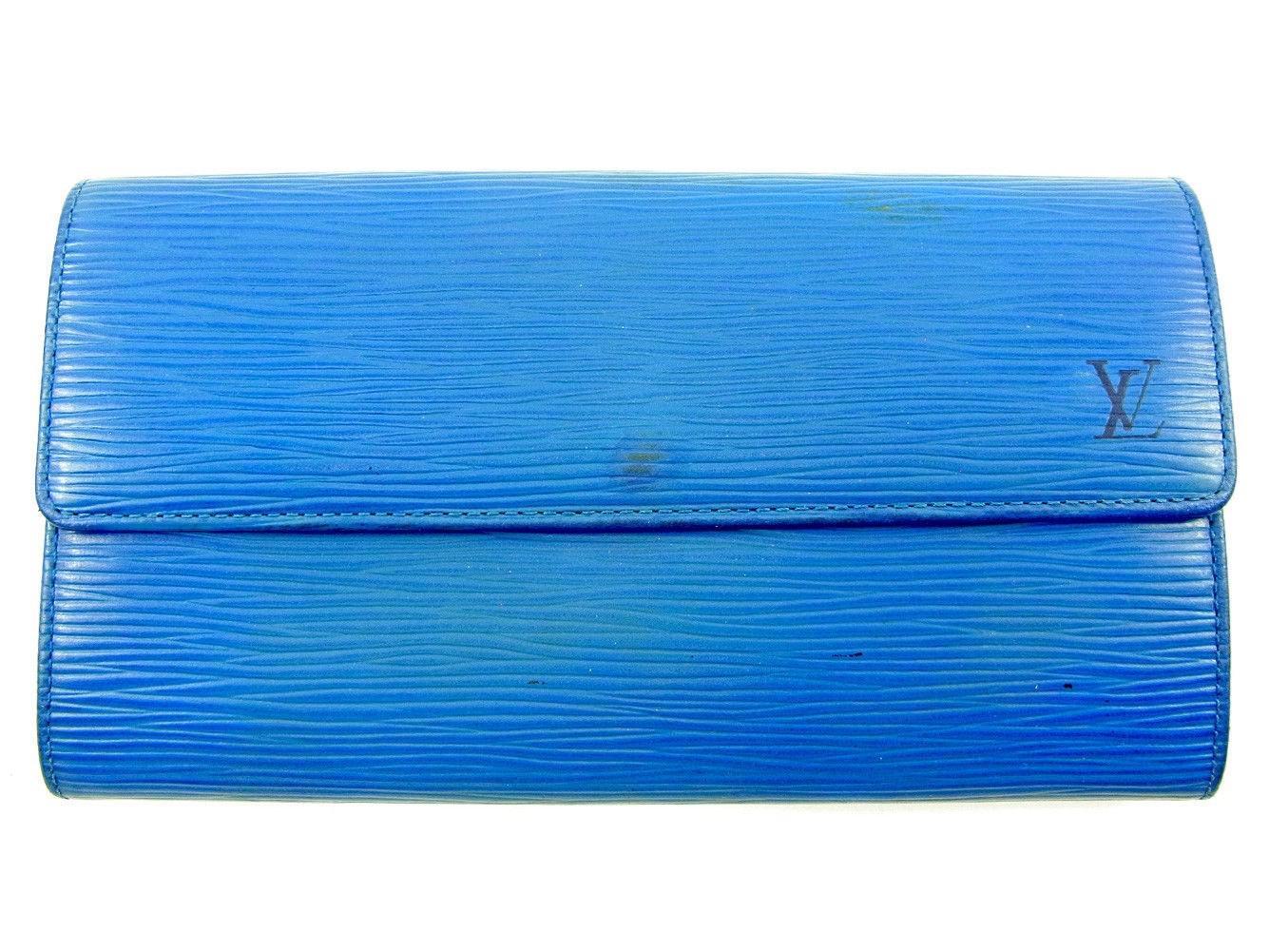 ef6755e4e745 Lyst - Louis Vuitton Wallet Purse Epi Women  s Men  s Used T3809 in Blue